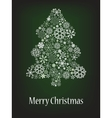abstract christmas tree with snowflake vector image vector image