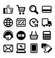 E-commerce Business Icons Set vector image