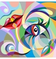 Abstract portrait of woman vector image