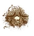 skull emblem vector image vector image