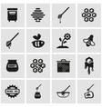 black honey icon set vector image