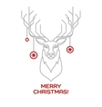 Christmas deer Line art vector image