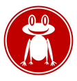 Frog button vector image