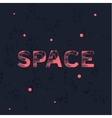 Logo space with trend vintage style scratched flat vector image