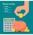 Money saving concept in flat vector image