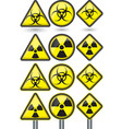 Radiation sign radiation symbol set vector image