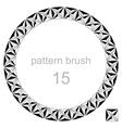 round pattern decor frame vector image