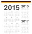 Set of German 2015 2016 2017 year calendars vector image