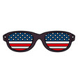 sunglasses with usa flag vector image