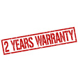 2 years warranty stamp vector image