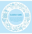 Modern line icon of senior and elderly care vector image