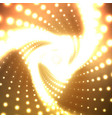 infinite triangular twisted tunnel vector image