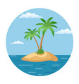 summer landscape of the tropical island vector image