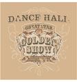 Dance saloon vector image vector image