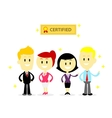 Certified Professional Employees vector image