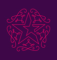 Floral monograms design template with star vector image
