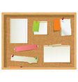 office noticeboard vector image