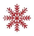 Red grunge snowflake logo vector image