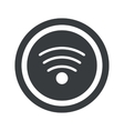 Round black Wi-Fi sign vector image