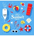 Summertime top view vector image vector image