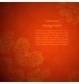Red ornament background vector image