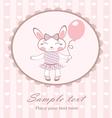 Cute bunny girl with balloon vector image
