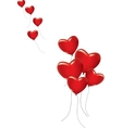 A lot of red hearts vector image