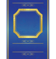 blue card with gold frame vector image