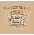 Dance saloon vector image