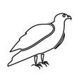 eagle it is black icon vector image