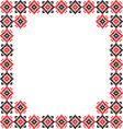 Frame black red patterns on canvas vector image