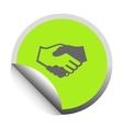 Handshake black icon vector image