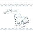 printable of nice gift postcard with hand drawn vector image