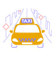 icon travel by taxi vector image