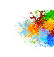 abstract splatter color background vector image