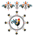 Folk Decorations Of Roosters vector image