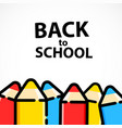 cartoon pencil background with back to school text vector image