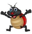 Happy ladybug cartoon vector image vector image