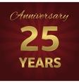 25 years anniversary vector image