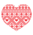 Traditional Ukrainian folk art heart pattern vector image