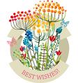 Watercolor natural card vector image vector image
