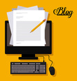 Blog design vector image