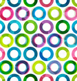 colored circles seamless pattern vector image