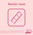 film sign symbol of cinema celluloid vector image