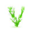 spring flowers alphabet v vector image vector image