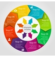 Infographic circle template vector image vector image