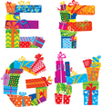 EFGH - english alphabet vector image
