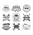 Auto Mechanic Black And White Emblems vector image
