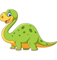 Cute dinosaur mascot isolated on white background vector image