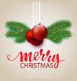 design a christmas postcard vector image